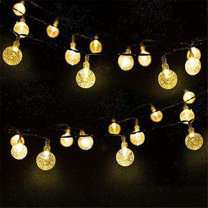 New 20 50 LEDS Crystal ball 5M 10M Solar Lamp Power LED String Fairy Lights Solar Garlands Garden Christmas Decor For Outdoor
