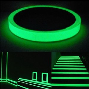 3-10M Luminous Fluorescent Night Self-adhesive Glow In The Dark Switch Sticker Tape Safety Security Room Decoration Warning Tape