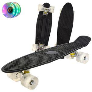Jusenda Skateboard 22in Mini Cruiser Kinder Penny Brett Pastelllongboard Fisch Skateboarddecks Flashing Räder Banana Skateboard