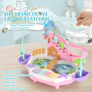Simulation fishing toy Multifunction Fun fishing toy Magnetic fishing toy Kid Creative play house 2 colors