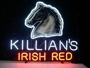 cgjxs 네온 사인 Killians 아일랜드 레드 맥주 실제 유리 튜브 라이트 핸드 메이드 바 맥주 클럽에서 벽 게임 룸