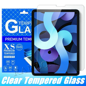 9h الزجاج المقسى حامي الشاشة فيلم ل iPad 8 10.2inch Air 4 10.9 Inch 2020 Pro 9.7 2019 11 12.9 Mini 2 3 5 مع حزمة البيع بالتجزئة الورقية