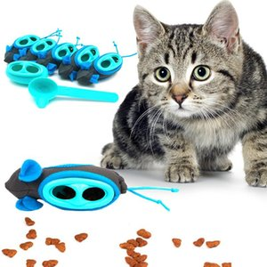 5PCS Cat Toys Interactive Treats Leakage Dispenser Ball Feeder Mouse Exercise Playing Training Bowl Cat Toys Supplies
