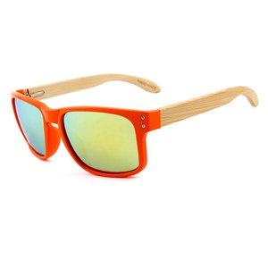 Frauen Polarisierte Holz Sonnenbrille Marke Square Goggle Spiegel Sun Damen Brille Keepioneer Holz Gläser Bambus Bein Bambus Weibliche Hihjf