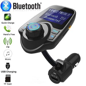 New T10 Car USB Charger MP3 Player And Adapter Wireles Bluetooth FM Transmitter MP3 Radio Adapter Car Accessories