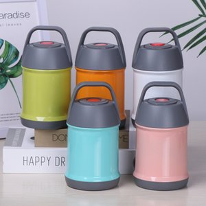Portable Thermal Lunch Box Stainless Steel Vacuum Insulated Jar Burning Stew Pot Cups Beaker Water Bottle Vacuum Flasks Kettle VT1669