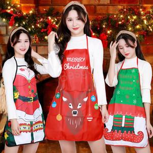 Joyeux Noël Tablier de Noël Décorations Père Noël Tablier de dîner Cuisine cuisine femmes Tabliers Fête de Noël Props BH0102 TQQ