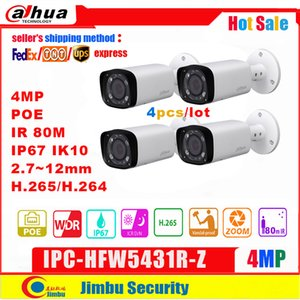 4MP Câmera IP POE IPC-HFW5431R-Z substituir IPC-HFW4431R-Z 2.8-12mm 4pcs / lot Varifocal Motorizado Len H.265 / H.264 IR80M