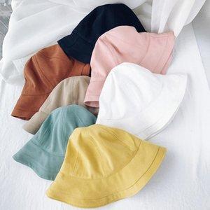 Pêcheur Chapeau Bucket Cap Simple Mode Casual Basin été Ombrelle Pliable Outdoor Hommes Femmes Sunhat