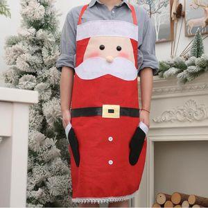 Weihnachten Küche Schürze Non-Woven Festival-Party-Weihnachts Chef Schürze Weihnachtsmann Schneemann Home Cooking Cleaning Tools