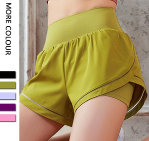 luyogasports lu shorts Biker shorts skin-friendly athletic activewear lu yoga pants high waist loose drawstring gym fitness sexy yoga shorts