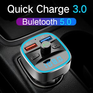 CDEN Bluetooth 5.0 Receiver FM Transmitter USB Flash Drive   TF Card Car MP3 Music Player Hands-free Call USB QC3.0 Car Charger