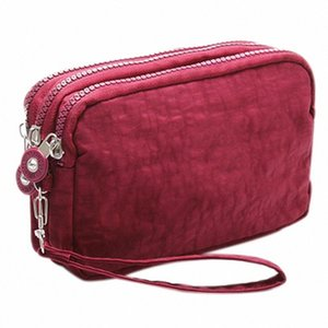 Lady Phone Wallet Package 3 Layers Handbag Cross Section Clutch Bag Large Capacity Valentines Gift Gt4e#