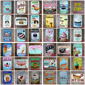 Metal Tin Signs Restaurant Bar Poster Plaque Bar Art Sticker Iron Paintings 20*30cm Decorative Iron Plates Bar Club Wall Decor HHB1609