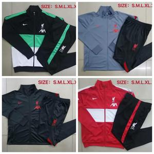 2020/2021 Liverpool adulto tuta collant formatori sportivo uomini tuta 2020/21 pieno cerniera insieme giacca da allenamento # L38