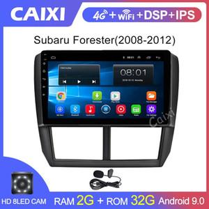 CAIXI 9 pouces 2DIN Android 9.0 Radio voiture pour 2008 2009 2010 2011 2012 Forester GPS Audio Head Unité Multimédia Lecteur DVD de voiture