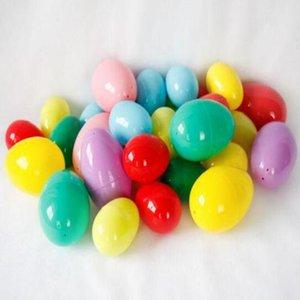 Pretty Baby Ostereier umweltfreundliche Plastikschnalle Eier 2 Größe DIY Puzzle Eier Baby Kinder Geschenk Ostertag Dekoration