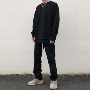 Moderno Niebla estación 6 de la calle principal con cordón babero general Kanye populares Marca recto flojo retro de estilo japonés Kaki pantalones casuales