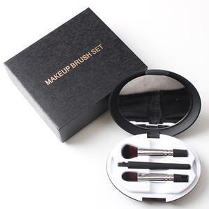 Multi-fonction 5 Pcs yeux Maquillage Pinceaux Beauté Poudre Lèvres fard à paupières Sourcils professionnel Eyeliner outil avec étui pliant