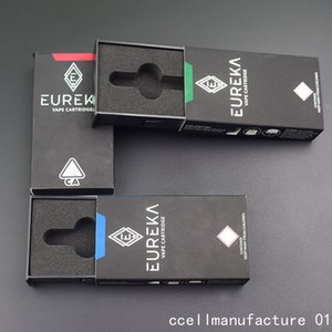 Eureka High Potency 0.8ml 1ml Ceramic Cartridges Empty Vape Cartridge Packaging Thick Oil Wax Vaporizer Ecigarette For 510 Thread Battery