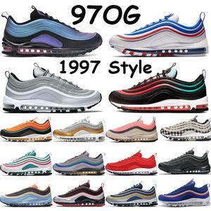 Nike Air Max 97 Juego Royal Mens All-Star Jersey Throwback Future Have a Day Negro Ember Glow Rojo Triple Blanco Negro Mujer Deportes Zapatillas 36-45