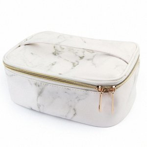 Cosmetic Bag Carry Pouch Gifts Durable PU Fashion Marble Grain Business Large Capacity Toiletry Travel Storage Makeup Organizer sHTb#