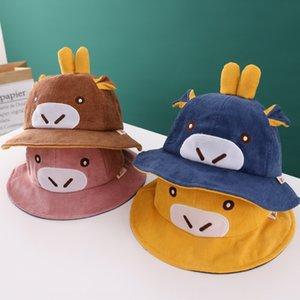 LtvIj children's new Korean style mavericks fisherman corduroy sun baby cute Fisherman Wick hat all-match fashionable hat