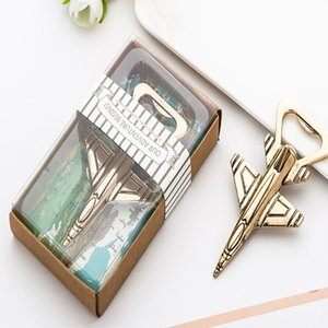 100pcs lot New Antique Air Plane Airplane Shape Wine Beer Bottle Opener Metal Fighter Openers For Wedding Party Gift Favors#6533