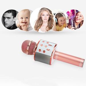Wireless Karaoke Microphone Speaker KTV Karaoke Player Echo System Digital Sound o Mix Singing Machine WS858