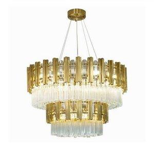 cgjxs Modern Luxury Lustre Or Nouveau Salon Villa décoration K9 lustre en cristal Myy