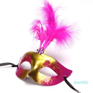 Ship Shiny Dhl Hallowmas Mask Sparkle Masquerade Venetian Bar Easter Dance Party Event Feather Masks