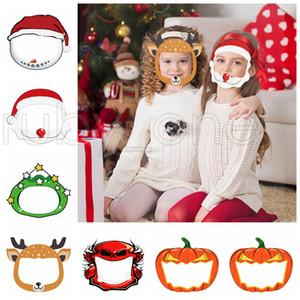 Hallowmas Noël sécurité Visière Cartoon Snowman citrouille transparent Couverture Facial Masque de protection anti-buée écran facial Masques RRA3549