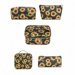 Multifunctional Cosmetic Makeup Travel Wash Bag Fashion Toiletry Storage Pouch Portable Organizer Make up Case Handbag smBl#
