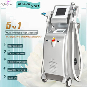 5 in 1 opt laser hair removal laser ipl hair tattoo removal machine Elight pigmentation removal