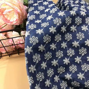 New Coloful Cotton Cloth Embroidered Lace Fabric Width 130cm Handmade DIY Clothes Dress Home Accessories FD03