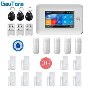 Alarma GauTone APP control remoto WIFI GPRS 3G Wireless Home Seguridad Sistema Inalámbrico Con luz intermitente sirena de alarma