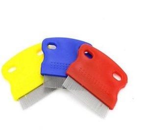 Hayvan Lice Tarak Kaymaz Sap Paslanmaz Çelik Pim Combs Bakım Temizleme Punny Nit Pet Louse Ücretsiz Temizleyici Fırça Köpek Pire Çareleri GWD1830