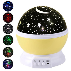 Cielo estrellado de la noche lámpara del proyector ligero Estrellas proyector LED niños de los niños del sueño del bebé de la lámpara de proyección LED romántico de la decoración del partido GGA3710-2