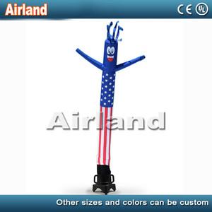 18 pés de ar inflável Wacky Dancer personalizado Cada bandeira homem tubo inflável país ondulado Man Dançarinos de vento com ventilador
