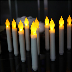 12PCS Flameless LED Taper Candles Lights, Battery Operated Candlesticks with Warm Yellow Flickering Flame, 0.79 x 6.5 Inch candle