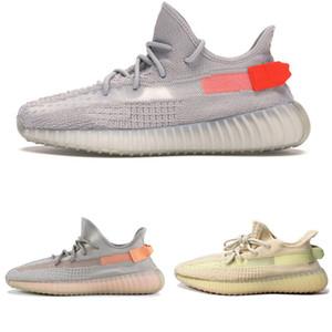 2019 Kanye West Hyperspace Lundmark Antlia 2.0 Glow Schwarz Weiß Lehm wahre Form Stern Zebra-Designer-Schuh-Turnschuhe der Frauen Männer