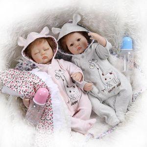 NPK Flexible Glue Cloth Body Simulation Baby Doll Cute Play House Toy Gift
