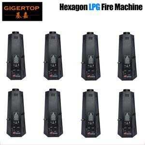 DMX 무대 효과와 8 개 / 많은 도매 가격 육각 LPG 하나의 방법 화재 기계 LPG 불꽃 프로젝터 / 소방 프로젝터