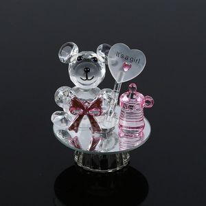 50pcs Urso de Cristal Garrafa de Leite Duche Batismo bebê Souvenirs Party Favors Batizado Giveaway presente para convidados W9977