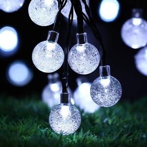 30 лампочек LED гирлянд солнечных батареях Водонепроницаемый Crystal Ball Christmas Струнный Наружное освещение Garden Holiday Party 8 Режимы 6,5м FFA4441