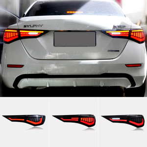 1 Set Car styling LED Taillight For Nissan Sylphy Sentra Pulsar 2019 2020 2021 Tail Lights Rear Lamp LED dynamic turn signal taillamp
