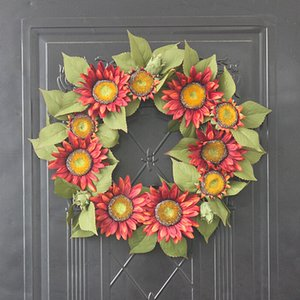 45cm Artificial Flowers Wreaths Silk Wearth Door Wall Hanging Artificial Garland For Wedding Decoration Home Party wedding Decor