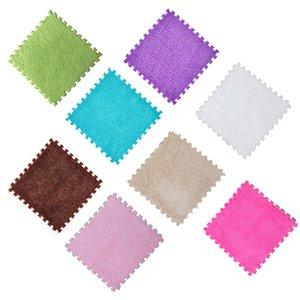 300*300mm EVA foam suede living room mosaic carpet children crawling color mosaic carpet Mat Kids Non-Slip Door