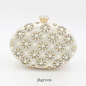 JH Evening Party Bag European And American Diamond Encrusted Round Egg Colorful Diamond Handbag One -Shoulder Slant Cross Dress Bag