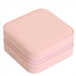 Cosmetic Case Women Box Ring Leather Earring Shipping Case Organizer Bags Storage Necklace Travel Drop Jewelry Ieavu